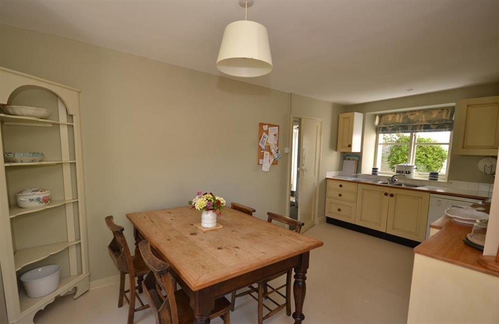Another view of dining area at Britannia Cottage, Stoke Fleming