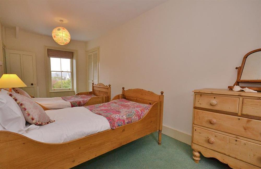 Another view of the twin bedroom at Britannia Cottage, Stoke Fleming