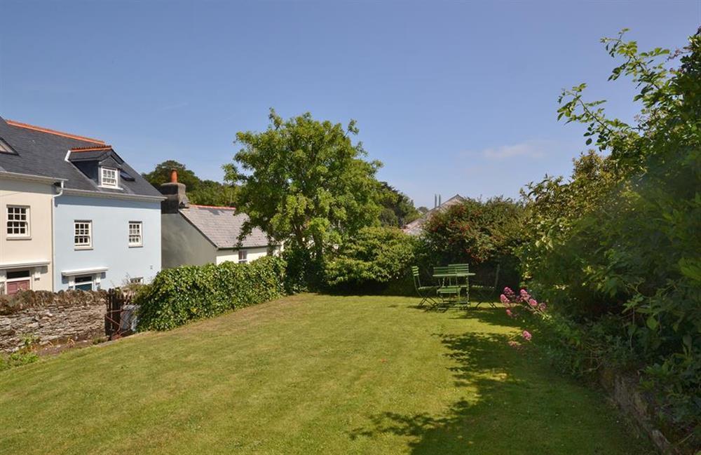 The lovely sunny garden at Britannia Cottage, Stoke Fleming