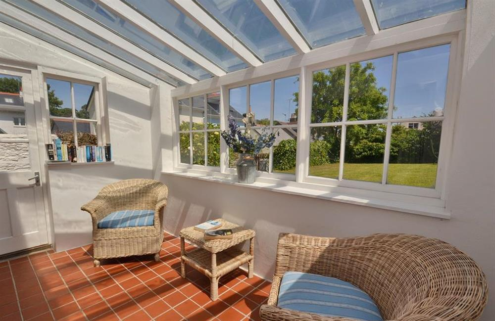 The sun room off the sitting room at Britannia Cottage, Stoke Fleming