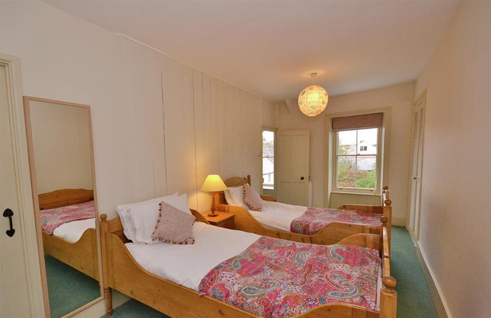 The twin bedroom at Britannia Cottage, Stoke Fleming