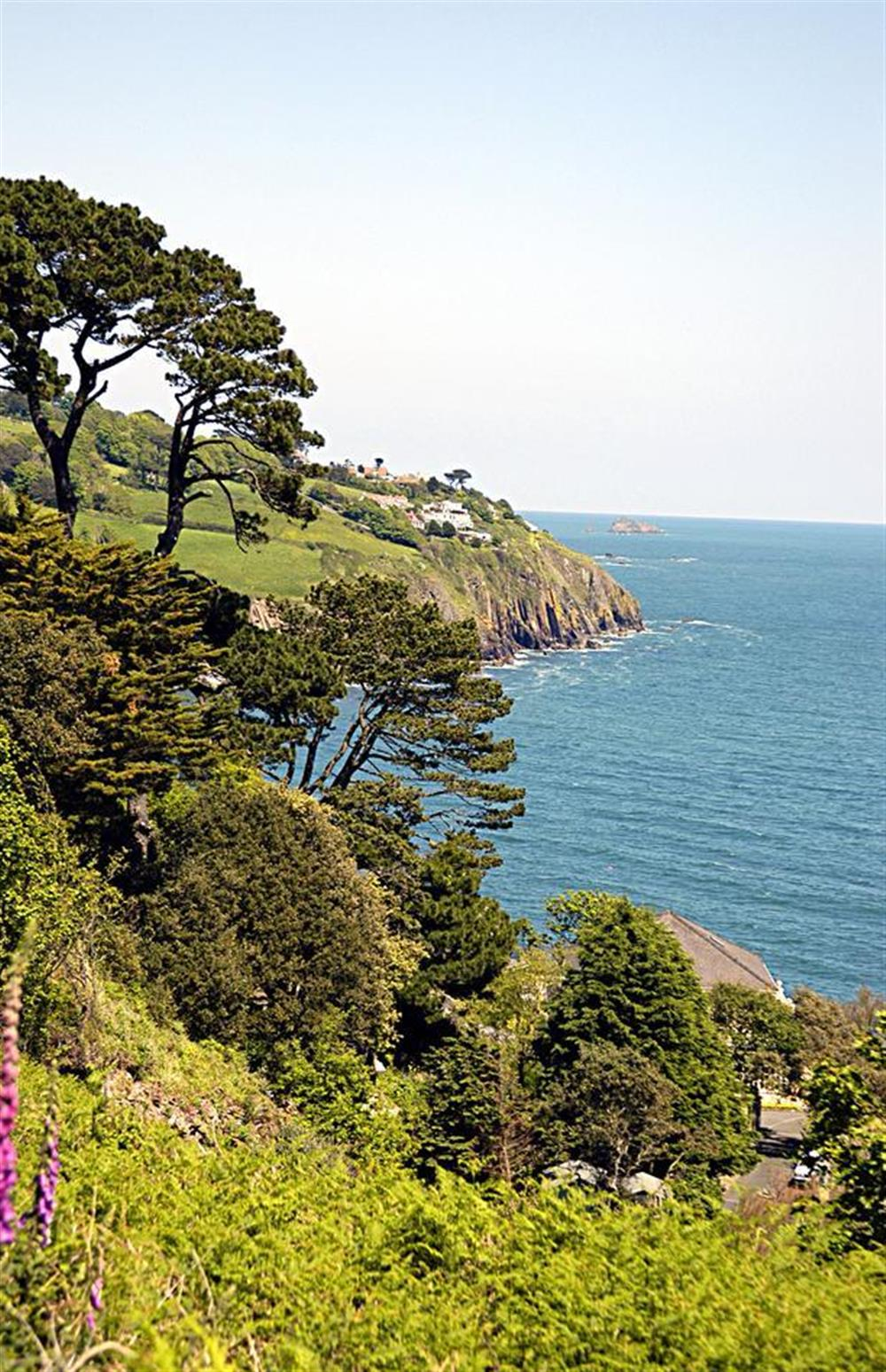 View from coast road to Stoke Fleming at Britannia Cottage, Stoke Fleming