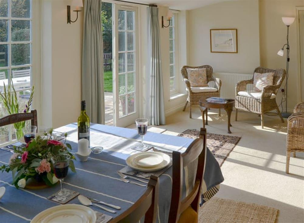 Charming dining/ garden room at Broad Cottage in Barton Turf, near Norwich, Norfolk
