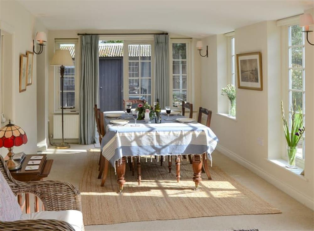 Light and airy dining/ garden room at Broad Cottage in Barton Turf, near Norwich, Norfolk