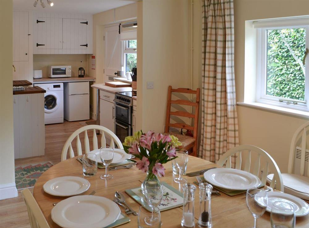 Dining area & kitchen at Broad Cottage Boathouse in Ranworth, near Wroxham, Norfolk