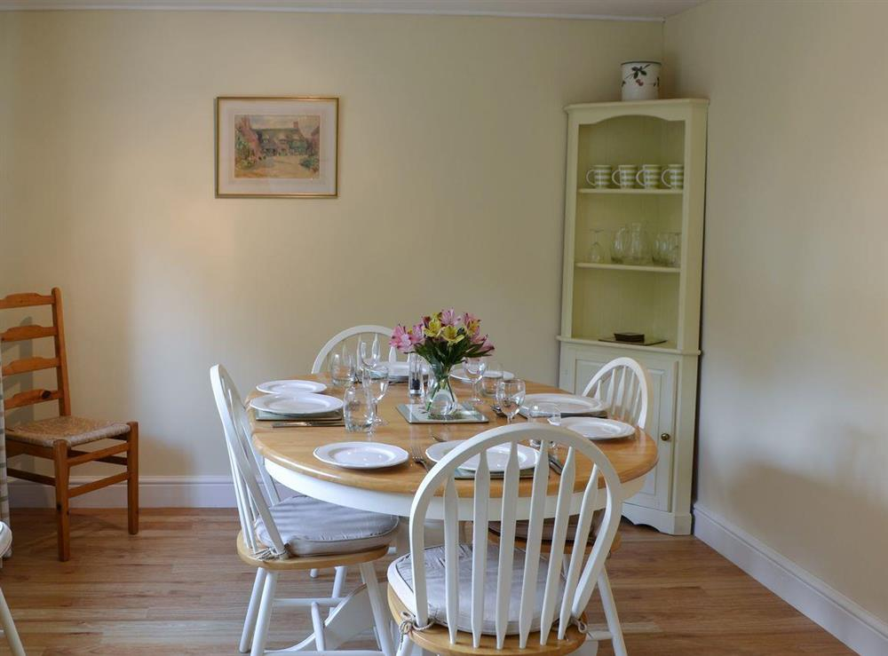 Dining area at Broad Cottage Boathouse in Ranworth, near Wroxham, Norfolk