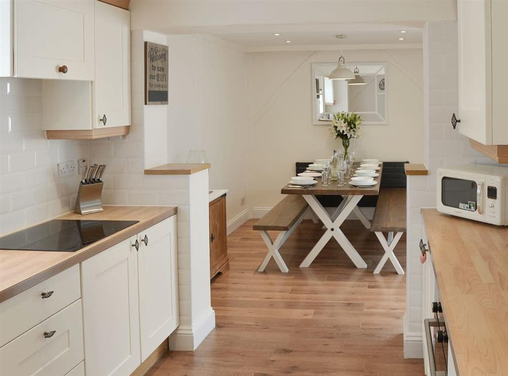 Spacious kitchen/ dining room at Broadland Hideaway in Martham, near Great Yarmouth, Norfolk