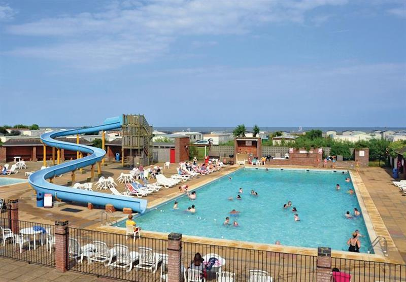 Outdoor heated pool at Broadland Sands in Corton, Lowestoft