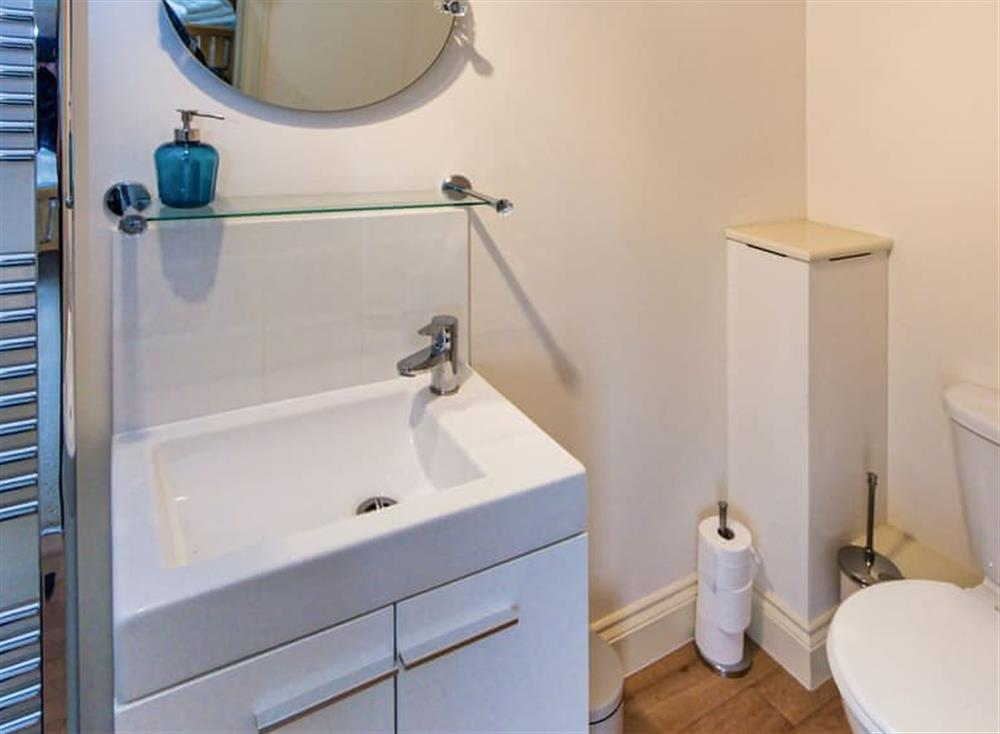 En-suite with heated towel rail at Broads Reach in Stalham Staithe, near Happisburgh, Norfolk