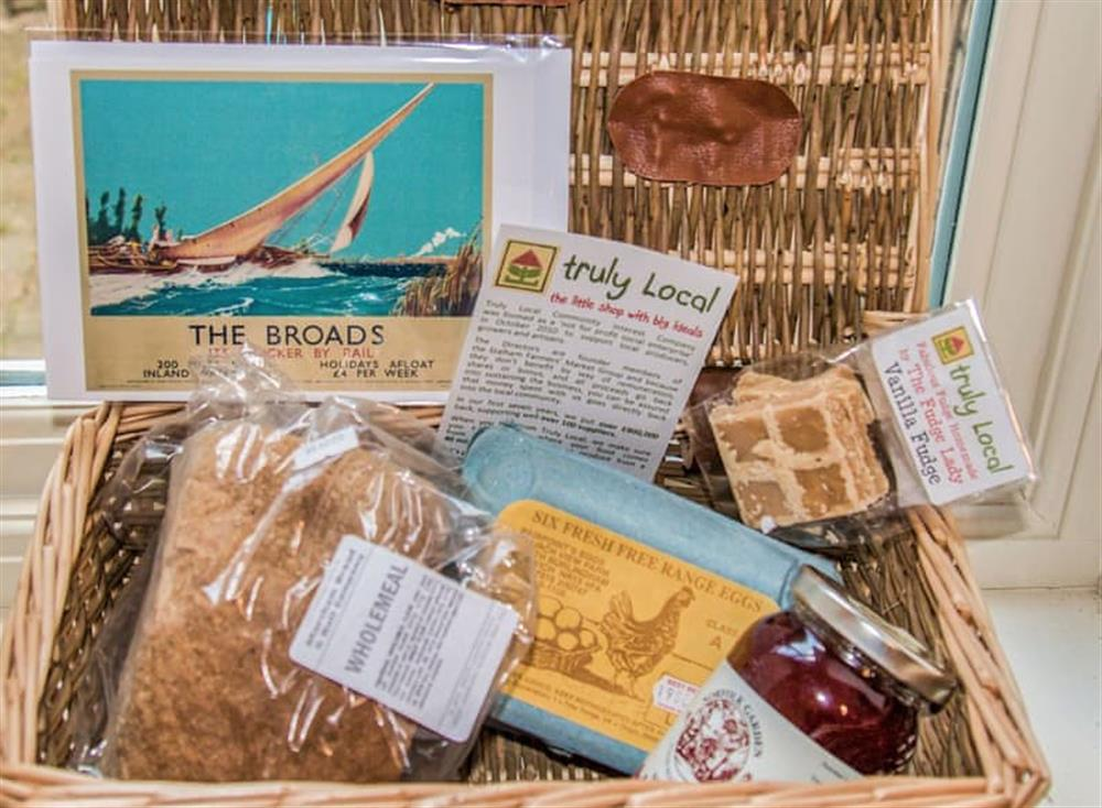 Typical welcome pack at Broads Reach in Stalham Staithe, near Happisburgh, Norfolk