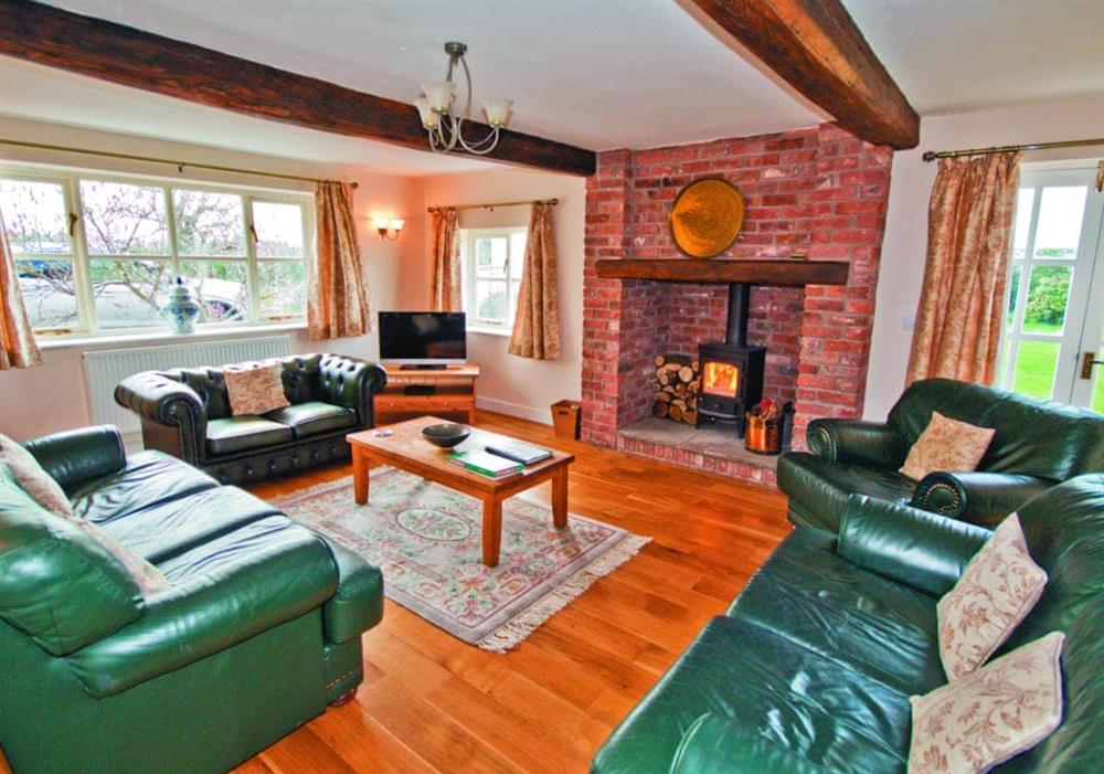 Living room at Brook Farm Cottage in Middlewich, Cheshire
