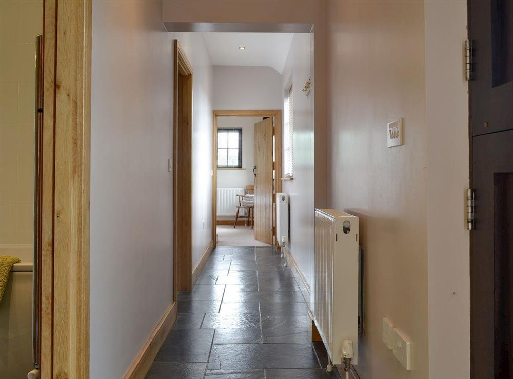 Hallway at Brookhouse Barn in Chapel Allerton, near Cheddar, Somerset