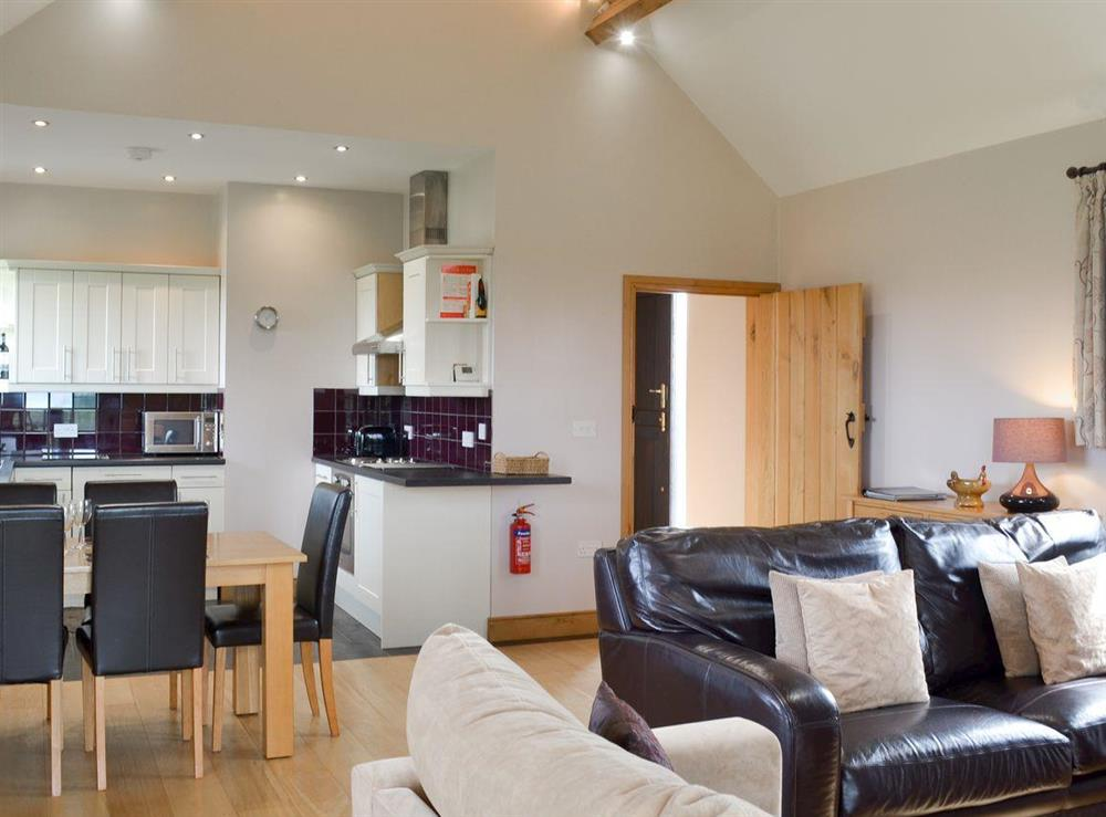 Open plan living space (photo 2) at Brookhouse Barn in Chapel Allerton, near Cheddar, Somerset