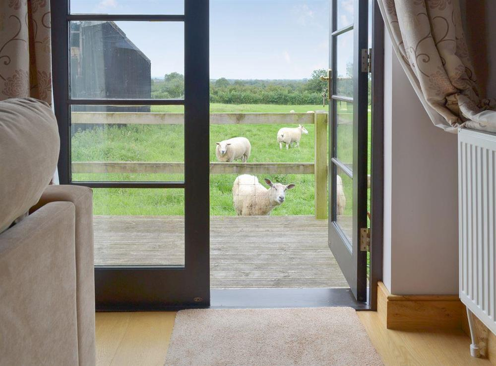 View from the property at Brookhouse Barn in Chapel Allerton, near Cheddar, Somerset