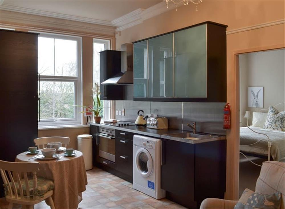 Kitchen and dining area at Broomleasowe House in Lichfield, Staffordshire