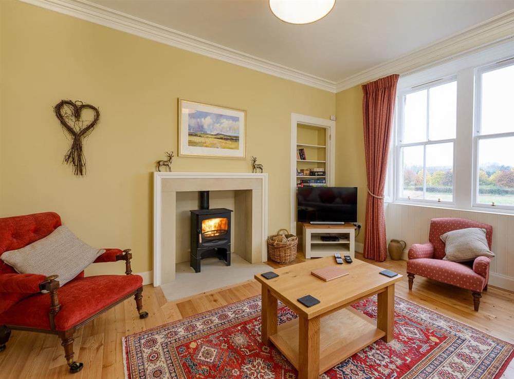 Living room at Broomrig Farmhouse in Pencaitland, near Tranent, Edinburgh, East Lothian