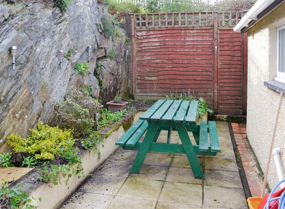 Rear courtyard with outdoor furniture