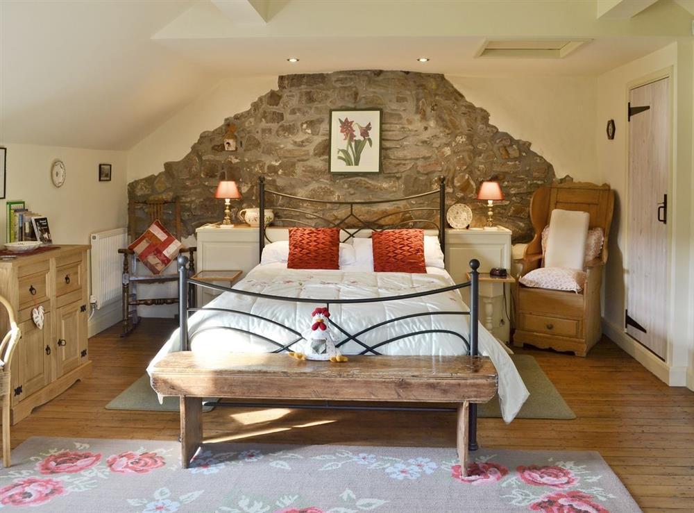 Double bedroom at Bryn Dedwydd Cottage in Eryrys, near Mold, Clwyd
