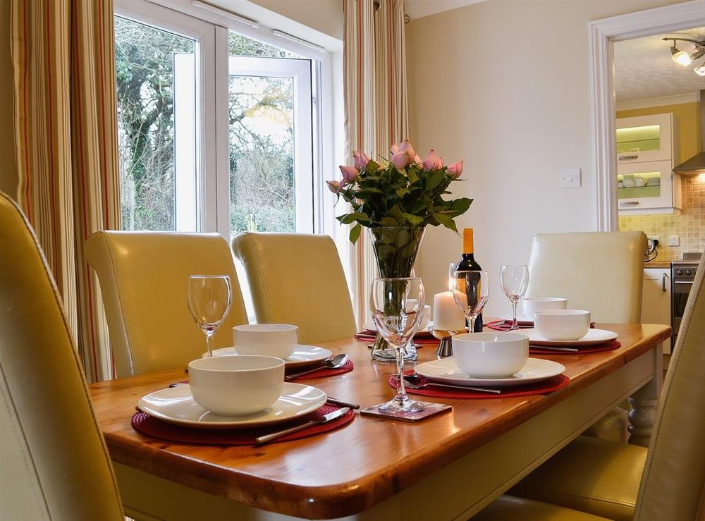 Dining room at Bryn-Y-Mor Cottage in Felinwynt, near Cardigan, Dyfed