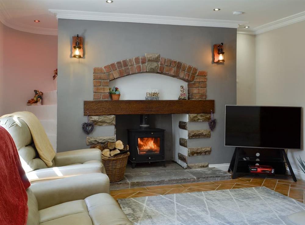 Living room at Brynllefrith Farmhouse in Caerau, near Maesteg, Glamorgan, Mid Glamorgan