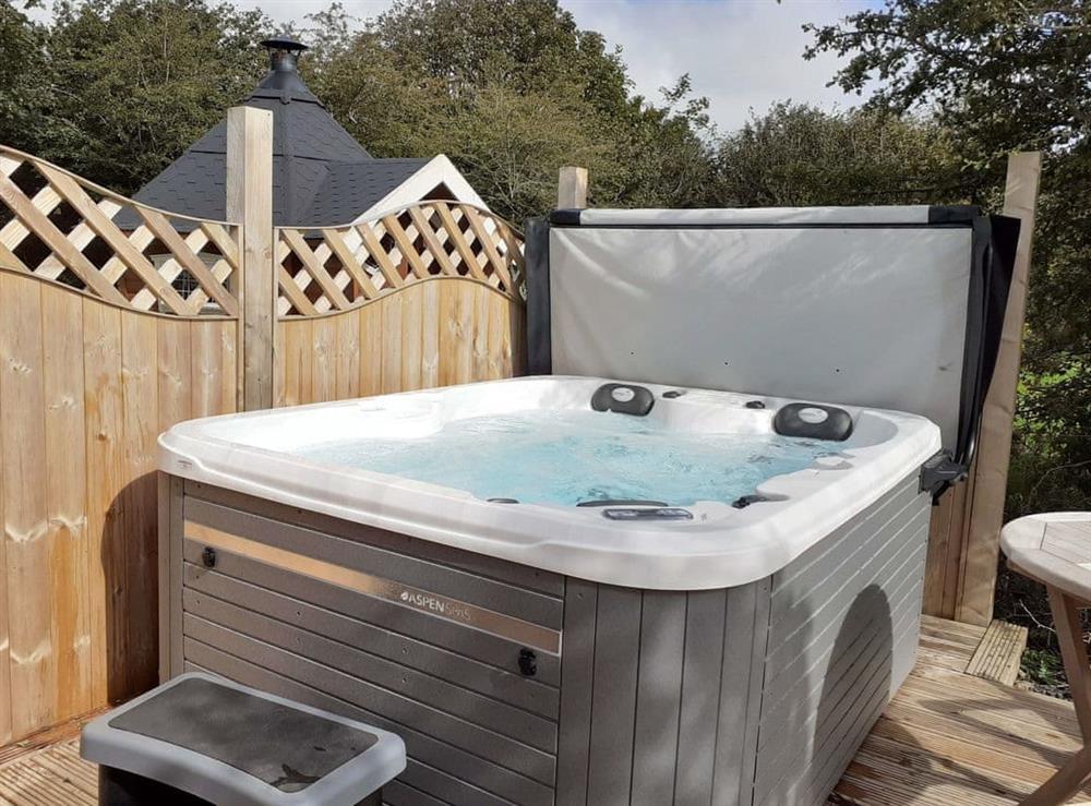 Hot tub at Robin,