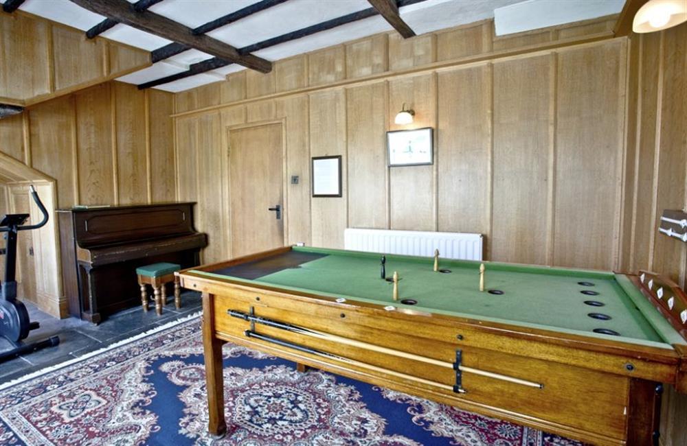 Billards at Buckland House, Nr Dartmouth, Devon
