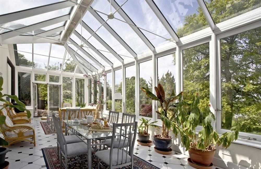 Conservatory and dining at Buckland House, Nr Dartmouth, Devon
