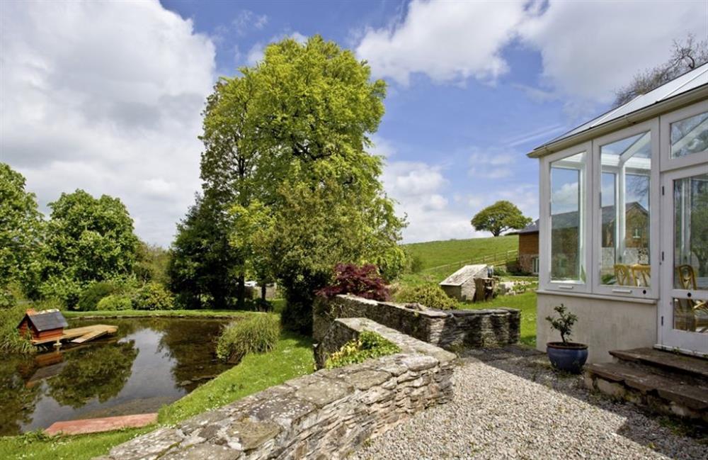 Pond in the garden at Buckland House, Nr Dartmouth, Devon