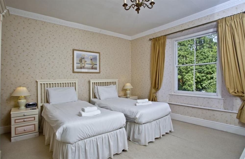 Twin bedroom at Buckland House, Nr Dartmouth, Devon