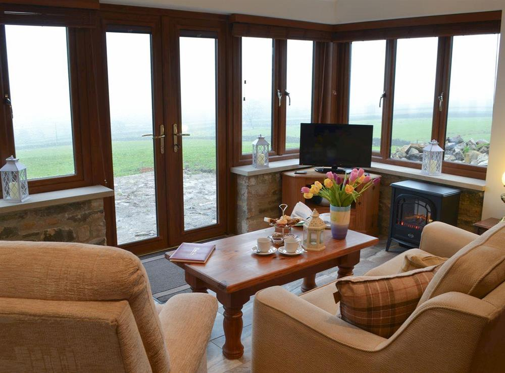 Living room with great views at Buckswell Cottage in Baldersdale, near Barnard Castle, County Durham, England
