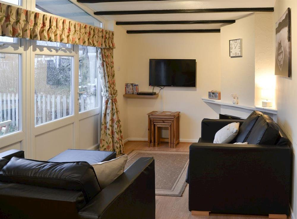 Open plan living space at Bullrushes in Horning, near Wroxham, Norfolk