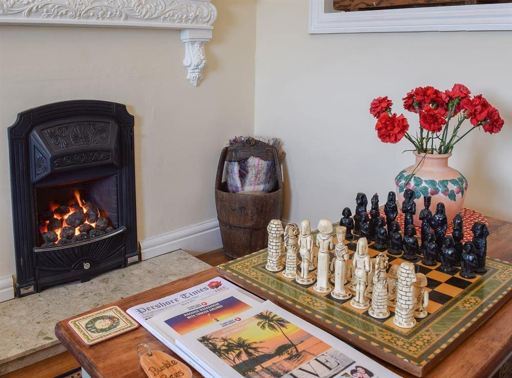Enjoy a cosy game of chess in front of the fire at Bumble Bees in Great Malvern, Worcestershire