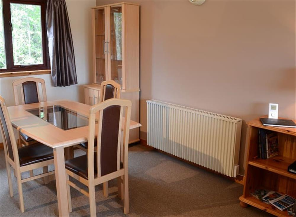 Dining area at Burn Cottage in Lairg, near Golspie, Sutherland