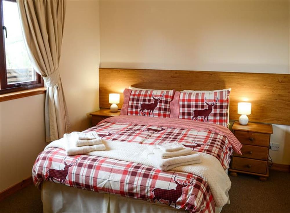 Double bedroom at Burn Cottage in Lairg, near Golspie, Sutherland