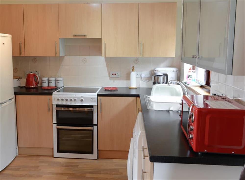 Kitchen at Burn Cottage in Lairg, near Golspie, Sutherland