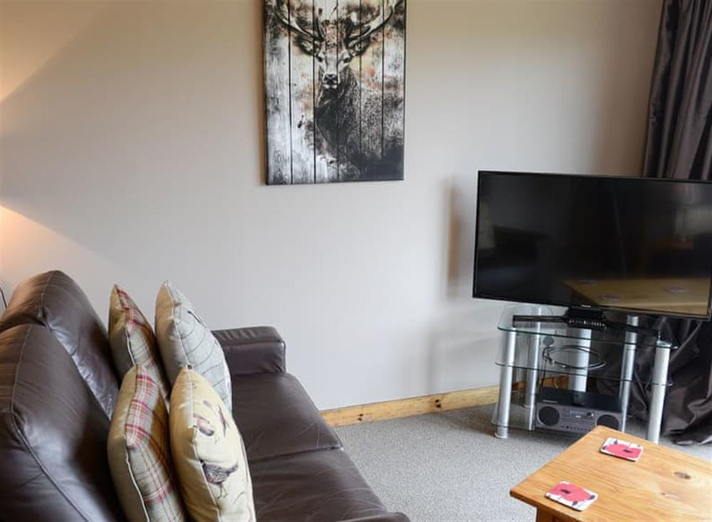 Living room at Burn Cottage in Lairg, near Golspie, Sutherland