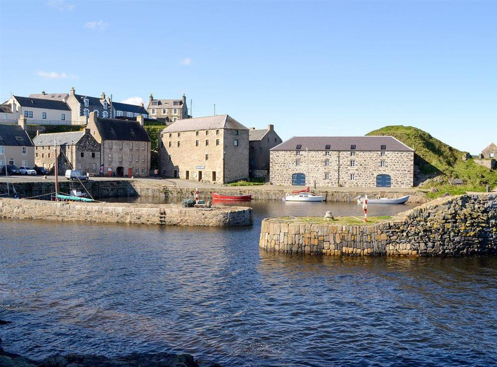 Harbour at Burnside Cottage in Portsoy, near Banff, Aberdeenshire