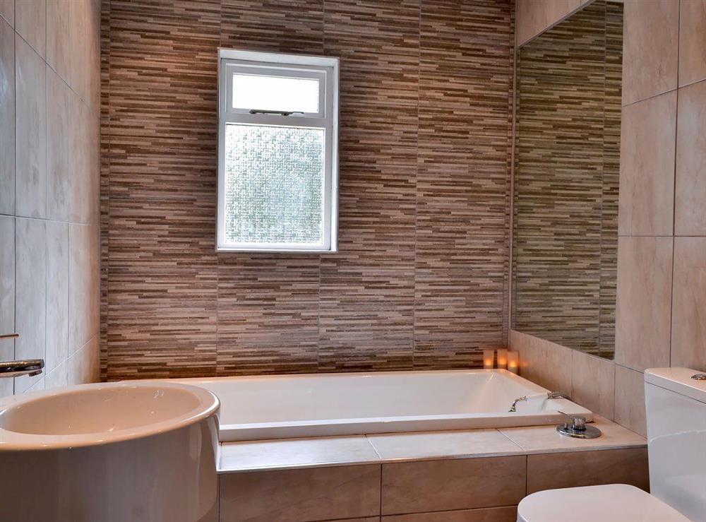 Bathroom at Burnside Cottage in Tormitchell, near Girvan, Ayrshire