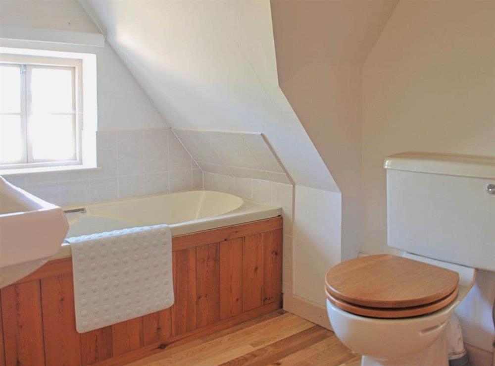 Bathroom at Burnt House Cottage in Darnsden, Needham Market, Suffolk