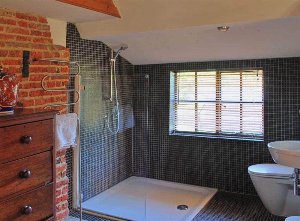 En-suite at Burnt House Cottage in Darnsden, Needham Market, Suffolk