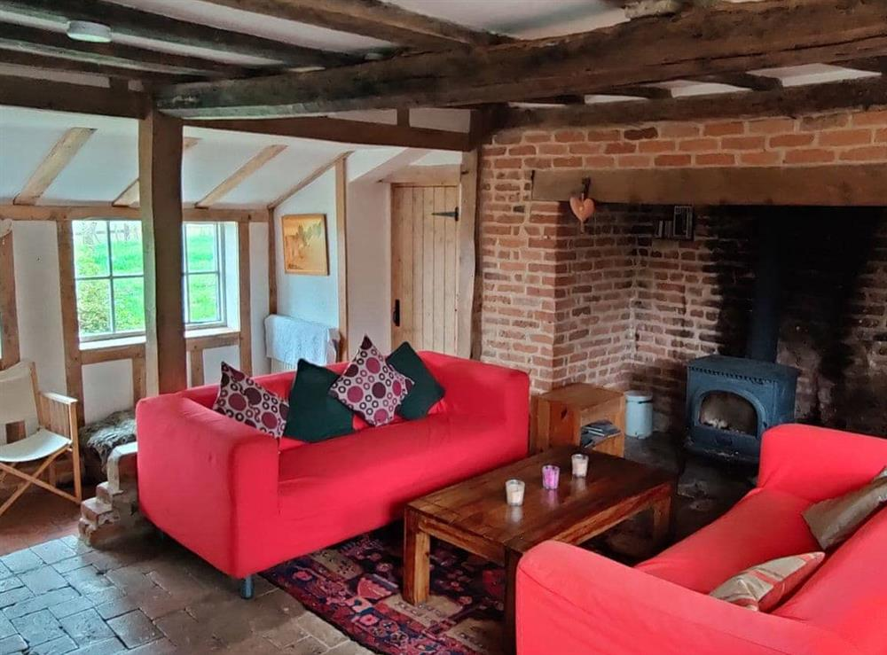 Living room at Burnt House Cottage in Darnsden, Needham Market, Suffolk