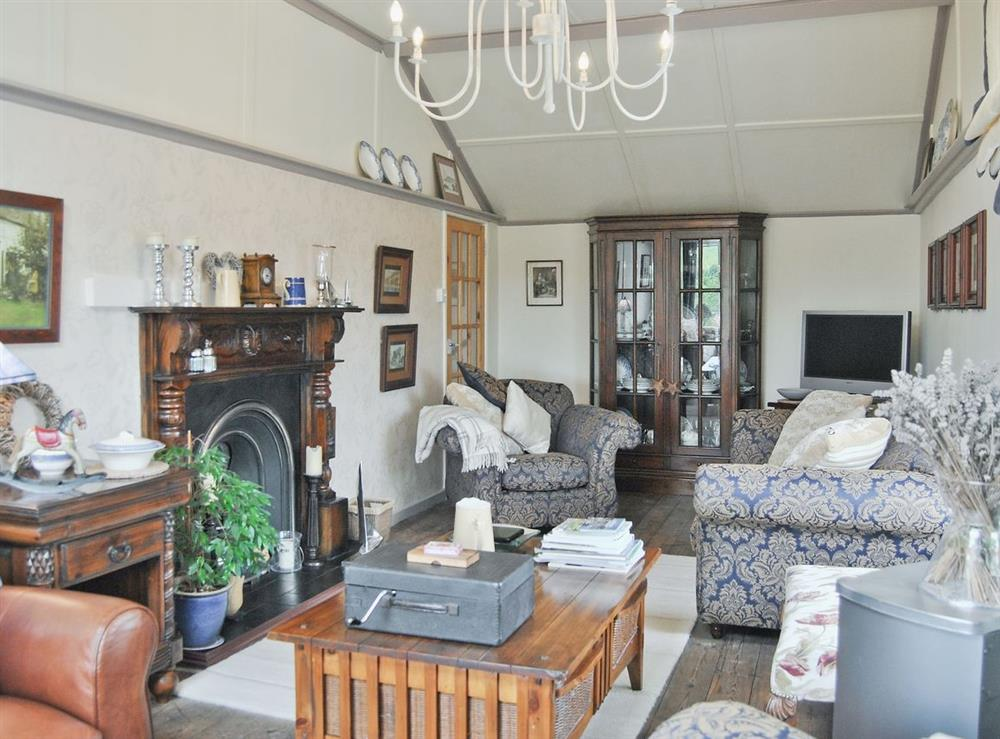 Living room at Butchers Cottage in Broadway, near Weymouth, Dorset