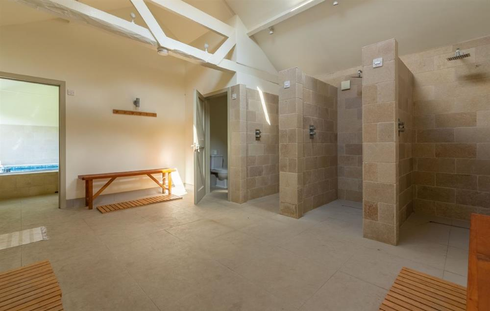 Butley Barn: Gym changing room with showers and WC