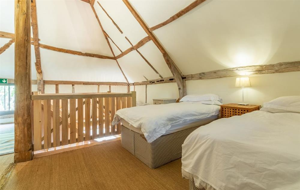 First floor: Dormitory with two single beds