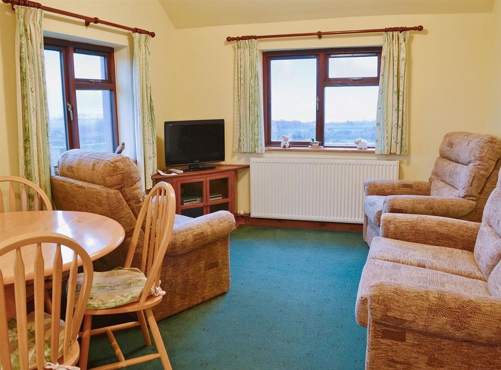 Living room at Bwythyn Hen Dy in Aberdaron, near Pwllheli, Gwynedd
