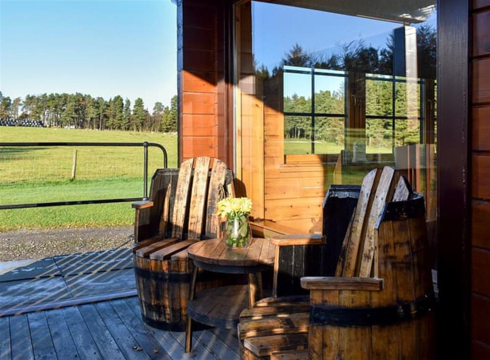 Views from Red Squirrel Log Cabin at Cairnty Lodges