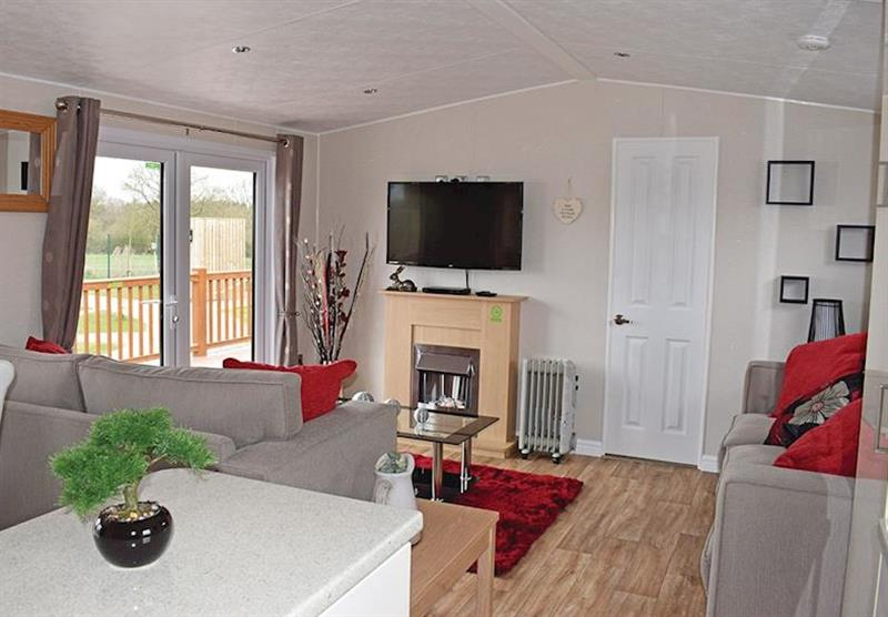 Inside one the Kingfishers at Caistor Lakes Lodges in Caistor, Market Rasen
