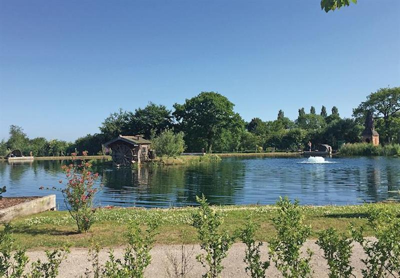 The lake at Caistor Lakes Lodges in Caistor, Market Rasen