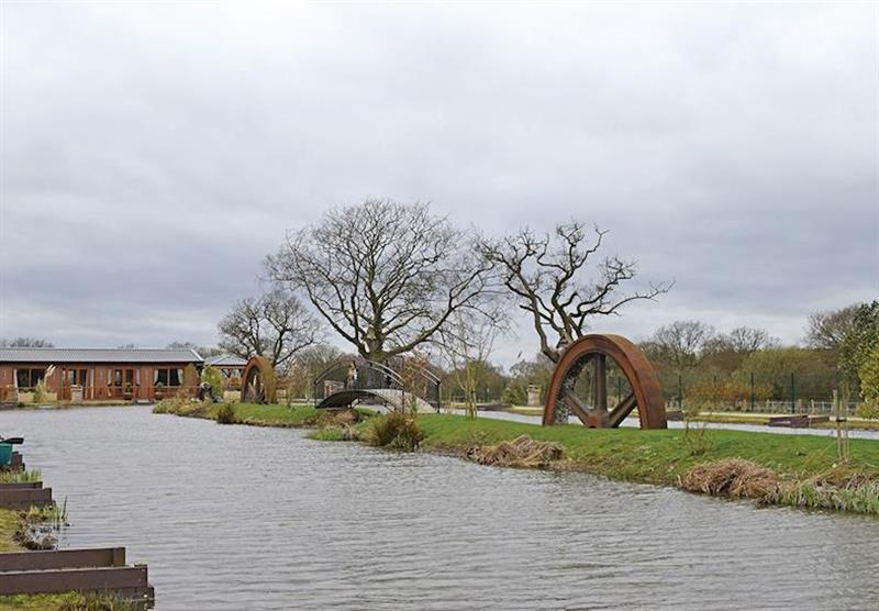 The park setting at Caistor Lakes Lodges in Caistor, Market Rasen