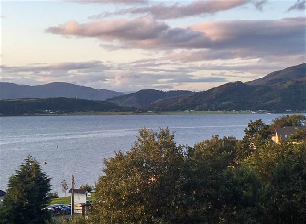 Stunning views over the water and the hills beyond at Cameron Brae in Kentallen, near Ballachulish, Fort William and Lochaber, Argyll